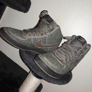 Nike, Rare, Green Tweed Hightops, 5.5